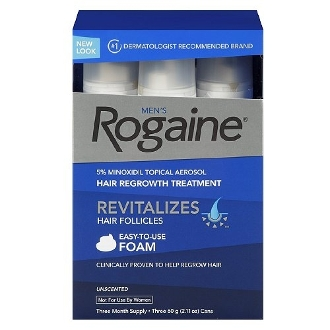 Men's Rogaine 5% Hair Regrowth Treatment, Foam