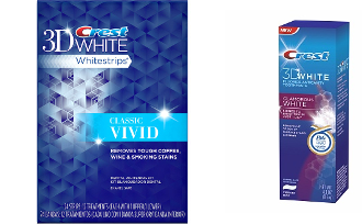 One Crest 3D Whitestrips Vivid + One Luxe Glamorous Toothpaste