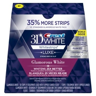 Crest 3D White Luxe Glamorous White Bonus 35% More Strips