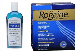 One Men's Rogaine 5% Liquid 3-Months and one Dr. Varon's Shampoo